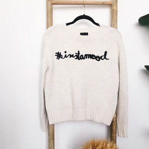 ZARA Knit #instamood Oversized Sweater